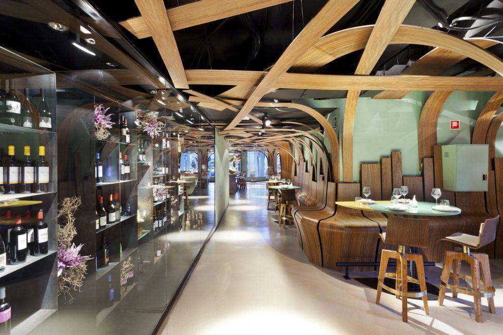 Sanjhes - Decoracion de Restaurante Estante de Vino