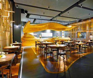 Sanjhes - Decoración de Restaurante Moderno Elegante